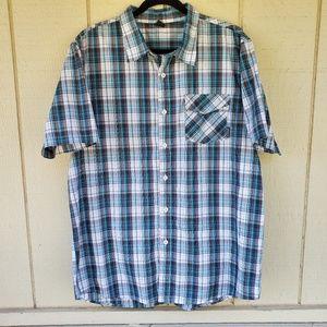 Oakley Men's Button down Blue plaid shirt XL